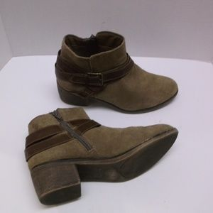 Sonoma Brown Leather Booties strap/buckle